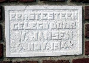 Gevelsteen in Fiat-garage, Koningsweg, Vlissingen