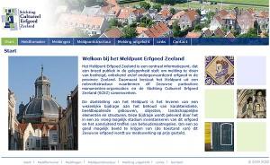 Website Meldpunt Erfgoed Zeeland