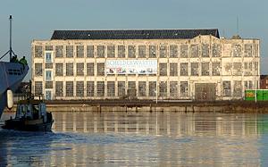 Timmerfabriek De Schelde aan de Koningsweg, Vlissingen, oostzijde