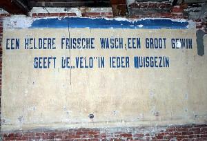 De Velo-muurreclame in 2008