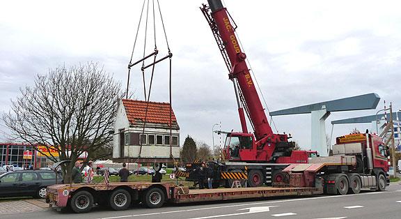 Verplaatsing weegbrughuisje Goes