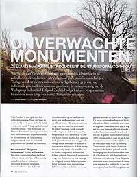 Artikel 'Onverwachte monumenten' in Zeeland Magazine van DELTA